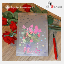 300g Custom Pattern Holographic Greeting Cards