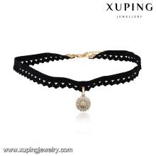 43684 Venta caliente popular de la joyería de las señoras multi-piedra pavimentada en forma de círculo colgante collar de gargantilla
