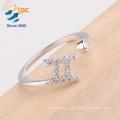 AAA level zirconia diamonds wholesale jewelry twelve constellations lucky Gemini ring