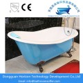 Blue color cast iron bathtub