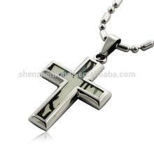 Ювелирные изделия ожерелья оптовой продажи способа с шкентелями креста нержавеющей стали привесные