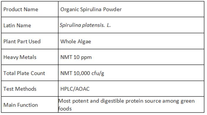Top Grade NOP EU Certified Organic Spirulina Powder (8)