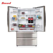 Venta al por mayor electrodomésticos de electrodomésticos de acero inoxidable refrigeradores de puertas francesas