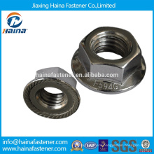 Chinese manufacturer in Stock Stainless steel Hex Head DIN6923 Flange nut