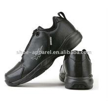 последний черный PU баскетбол обувь для мужчин