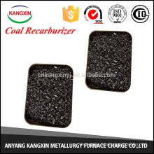 coal/low sulfur recarburant for steelmaking