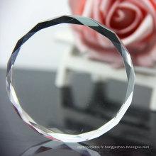 Échantillon gratuit presse-papier acrylique clair / poids du papier cristal clair