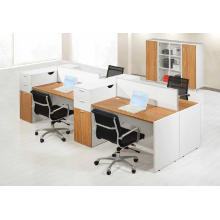4 seater staff workstation with screen