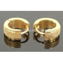 High Polish Plain 18k gold plating Stainless Steel clip earrings