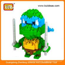 Nuevas figuras en miniatura de la tortuga del ninja del diseño LOZ, mini juguete de la tortuga del ninja para los niños
