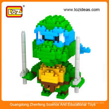 New design LOZ ninja turtle miniature figures,mini ninja turtle toy for children