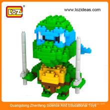 Novo design LOZ tartaruga ninja figuras em miniatura, mini brinquedo tartaruga ninja para crianças