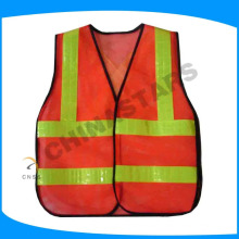 hi vis mesh safety vest with pvc tape for hot weather from China