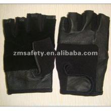 Guante de seguridad antideslizante de piel de cerdo de gamuza HYB06
