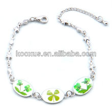 Real irischen keltischen vier Blatt Klee Armband aus China Yiwu Markt