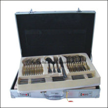 72-84 PCS Stainless Steel Cutlery Set Aluminum Box