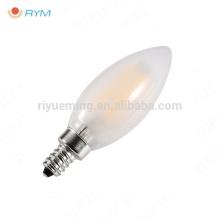 filamento llevado espiral helado de la lámpara de la luz de la vela E14 C35