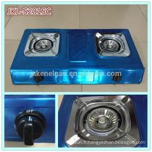 cuisinière à gaz en acier inoxydable à 2 brûleurs