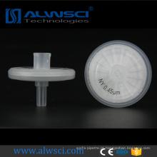 filtro de seringa malha filtrante de nylon de 0,45 micron