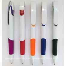 2016 neue Design Kunststoff Stift mit Gummi (P3019)