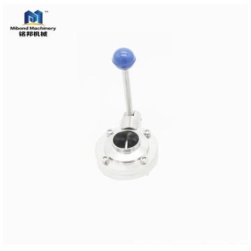 Китай Клапан Поставщик Санитарной нержавеющей стали 304 / 316L дроссельный клапан рычажного типа