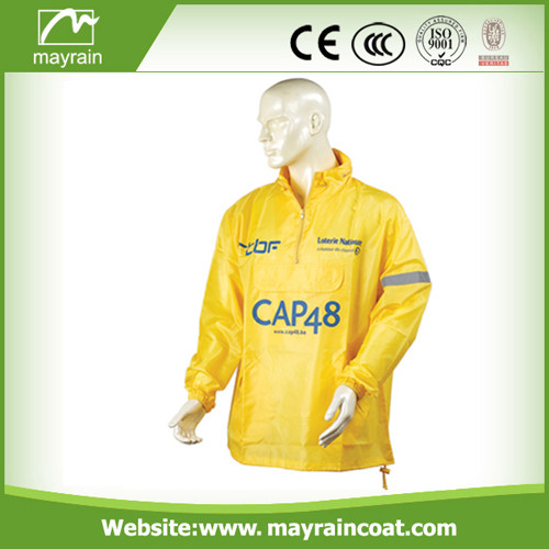 Yellow Polyester Raincoat