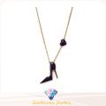 Collier en argent sterling à la mode 2016 pour femmes Collier CZ blanc N6780