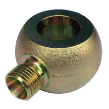 Hot forged bolt, made of stainless steel, carbon steel and brass
