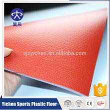 Tapete interior antideslizante rojo del suelo del tenis de mesa del pvc del grano del litchi de 4.5mm