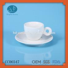 Taza de café expreso de cerámica y platillos, taza personalizada y platillo, taza de té, Copa Espresso con placa