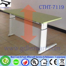 manual crank height adjustable desk computer table for two people lecture table desk hinge