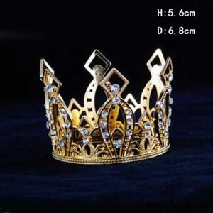 Crystal Metal Pageant Children Crown Birthday Cake Crown