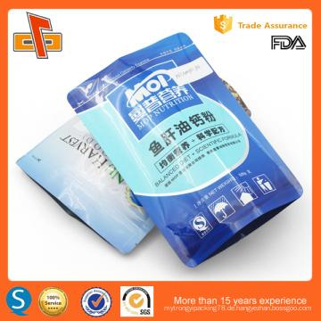 Glossy PET laminierte Lebensmittel benutzerdefinierte Bild gedruckt Aluminium Beutel Tasche