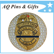 Metal Gold Golf Ball Marker in Soft Enamel of Golf Equipment (Golf-05)