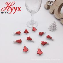 HYYX Atacado Made In China casa decoração árvore nota foto peg de madeira