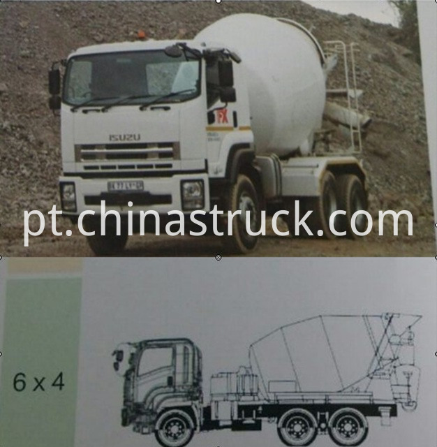 New Model Isuzu Concrete Mixer Truck