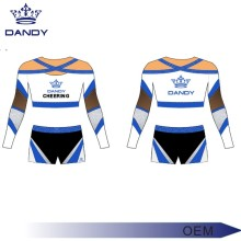 Custom youth gold comp cheer uniforms