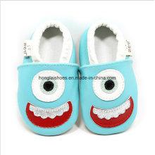 Zapatos de cuero para niños pequeños de interior 021