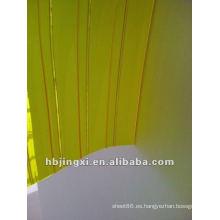 cortina de PVC transparente contra insectos con acanalado