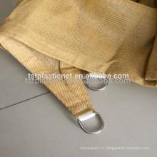 100% nouveau triangle de HDPE Sun Shade Sail pour l'arrière-cour