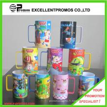 Tasse imprimée en plastique coloré brillant pour promotionnel (EP-M9153)