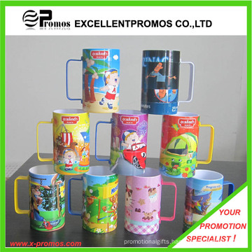 Printed Bright Colorful Plastic Mug for Promotional (EP-M9153)