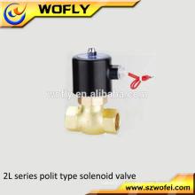 Válvula de solenóide de água de alta temperatura 0-150 graus 2L de vapor 24volt
