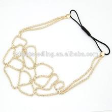 2015 hot selling popular fashion elegant weave elastic hairband for women