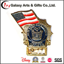 High Quality American 911 Event Badge Pins/ Gold Badges /Metal Security Badges