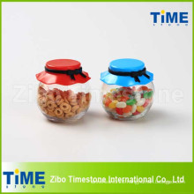 265ml Food Candy Glass Storage Jar with Plastic Lid