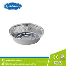 Bandeja de alumínio de folha redonda de uso de cozinha