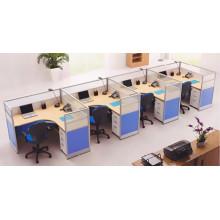 Estação de trabalho de escritório móvel de boa qualidade para 4 pessoas
