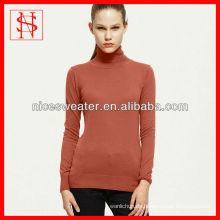 Neueste Design Damen stricken Turtleneck Pullover