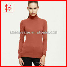 Latest design ladies knit turtleneck sweater
